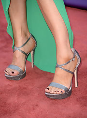 Michelle Stafford's platform sandals gave the actress height and sparkle on the red carpet.