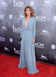 Faith Hill's powder-blue Saint Laurent gown at the ACM Awards was regal with a sexy twist, thanks to that navel-grazing neckline.