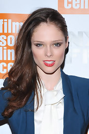 Coco Rocha grabbed the gold shadow at the 'My Week With Marilyn' premiere. The shimmery shade was applied at the inner corners and along the lower lash lines for some serious shine.