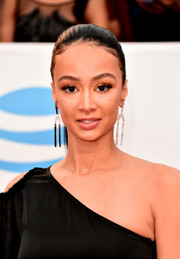 Draya Michele sported a sleek ponytail at the 2018 NAACP Image Awards.