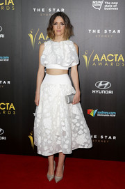 Rose Byrne wore a lovely floaty floral crop top by Maticevski to the 4th AACTA Awards.