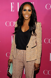 June Ambrose carried a box clutch at the Elle Women in Music Celebration.