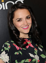 Rachael Leigh Cook was glowing at the Hollywood Domino Gala. She parted her polished curls on the side for a sleek finish.