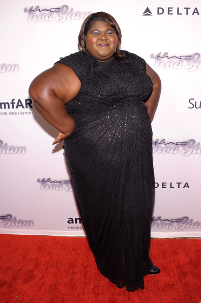 More Pics of Gabourey Sidibe Beaded Dress (1 of 4) - Gabourey Sidibe Lookbook - StyleBistro