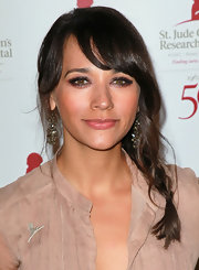 Rashida Jones attended the 50th anniversary celebration for St. Jude Children's Research Hospital wearing her shiny tresses in a long braid with sexy side-swept bangs.