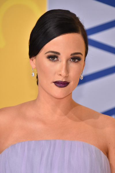 More Pics of Kacey Musgraves Chignon (2 of 8) - Kacey Musgraves Lookbook - StyleBistro [hair,face,eyebrow,lip,hairstyle,skin,shoulder,chin,beauty,forehead,arrivals,kacey musgraves,cma awards,nashville,tennessee,bridgestone arena]