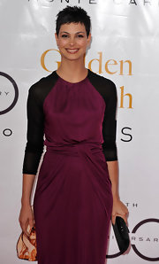 Morena Baccarin styled her short tresses in a tousled, side-parted pixie cut.