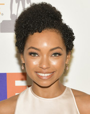 Logan Browning looked cute with her short curls at the 2019 NAACP Image Awards nominees luncheon.