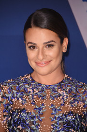 Lea Michele sported a sleek side-parted ponytail at the 2017 CMA Awards.