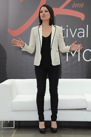 At the Monte Carlo TV Festival, Lana Parrilla proved that a pair of black skinnies could be just as sexy as bare legs.