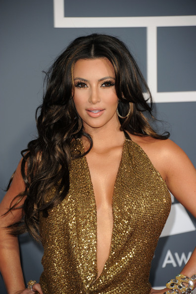 kim kardashian hair color brown. TV personality Kim Kardashian