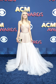 Danielle Bradbery had a princess moment in a strapless blush tulle gown by Maria Lucia Hohan at the 2018 ACM Awards.