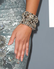 Mya piled on a beaded bangle bracelet at the 2011 Grammy Awards. It's from the Miriam Haskell Midnight Frost Collection.