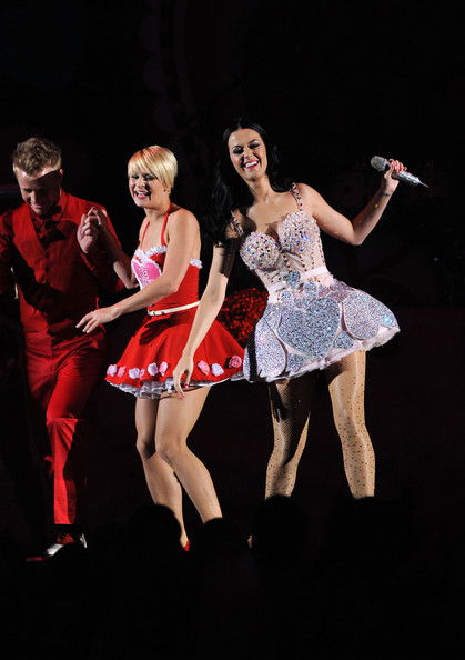 More Pics of Katy Perry Corset Dress (3 of 17) - Dresses & Skirts Lookbook - StyleBistro [entertainment,performance,performing arts,dancer,choreography,stage,dance,event,performance art,concert dance,california,los angeles,staples center,annual grammy awards,show,signer katy perry]