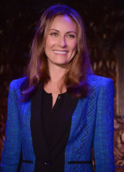Laura Benanti opted for a natural-looking straight 'do with a slight wave to it for her look at the '54 Below' preview.