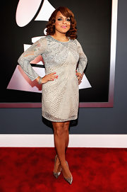 Marsha Ambrosius looked divine at the Grammys in her silver beaded dress.