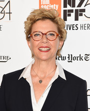 Annette Bening looked cute with her short curls at the New York Film Festival premiere of '20th Century Women.'