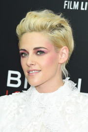Kristen Stewart styled her short hair into a messy fauxhawk for the New York Film Festival screening of 'Billy Lynn's Long Halftime Walk.'