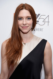 Kate Miller wore her long layered hair swept to the side during the New York Film Festival photocall for 'Bright Lights.'