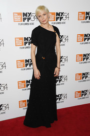 Michelle Williams was the picture of elegance in a studded black gown with an asymmetrical neckline during the New York Film Festival premiere of 'Certain Women.'