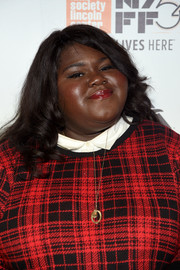 Gabourey Sidibe styled her hair with curly ends for the New York Film Festival opening night party.