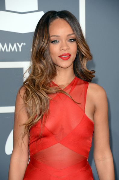 More Pics of Rihanna Long Wavy Cut (1 of 31) - Long Hairstyles Lookbook - StyleBistro