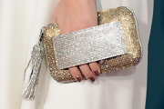 Kady Z's clutch sparkled on the red carpet with both gold and silver rhinestones catching the flash of the light bulbs.