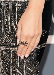 Allison Williams chose a petite cocktail ring for her elegant 2013 Grammy look.