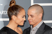 Singer/actress Jennifer Lopez and dancer Casper Smart arrive at the 55th Annual GRAMMY Awards at Staples Center on February 10, 2013 in Los Angeles, California.
