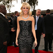 Carrie Underwood Wears Roberto Cavalli at the Grammy Awards 2013