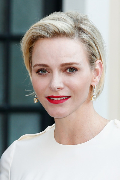 Charlene Wittstock looked simply stylish with her short bob at the 2015 Monte Carlo TV Festival.