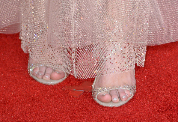 More Pics of Kacey Musgraves Diamond Bracelet (1 of 9) - Bracelets Lookbook - StyleBistro [nail,leg,foot,pink,bridal accessory,toe,barefoot,footwear,lace,finger,arrivals,kacey musgraves,56th grammy awards,shoe detail,staples center,los angeles,california]