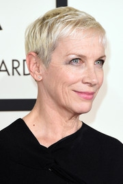 Annie Lennox made an appearance at the 2015 Grammys wearing her signature pixie.