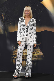 Malin Akerman looked groovy in a printed monochrome pantsuit by Gosia Baczynska at the Monte Carlo TV Festival.