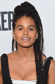 Zazie Beetz looked edgy with her multi-braid hairstyle at the New York Film Festival screening of 'Joker.'