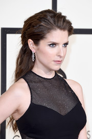 Anna Kendrick topped off her look with a teased half-up hairstyle when she attended the Grammys.