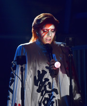 Lady Gaga was the spitting image of David Bowie when she wore this stage makeup at the Grammys.