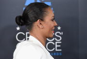 Melanie Brown pulled her hair back into a tight, twisted bun for the Critics' Choice Television Awards.
