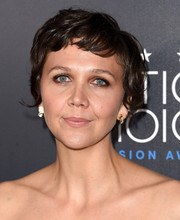 Maggie Gyllenhaal wore her pixie slightly mussed up when she attended the Critics' Choice Television Awards.