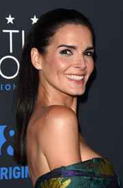 Angie Harmon was fresh-faced wearing this ponytail at the Critics' Choice Television Awards.