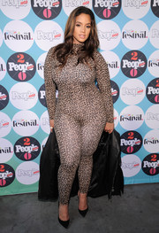Dascha Polanco went bold in a leopard-print catsuit at the People En Espanol Festival.