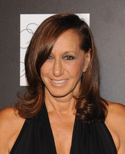 Donna Karan styled her hair with curly ends for the PSLA Autumn Party.