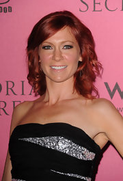 "Actress Carrie Preston showed off her medium curls while hitting the red carpet at the ""What is Sexy?"" event."