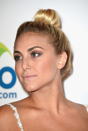 Cassie Scerbo attended the Thirst Gala wearing a playful top knot.