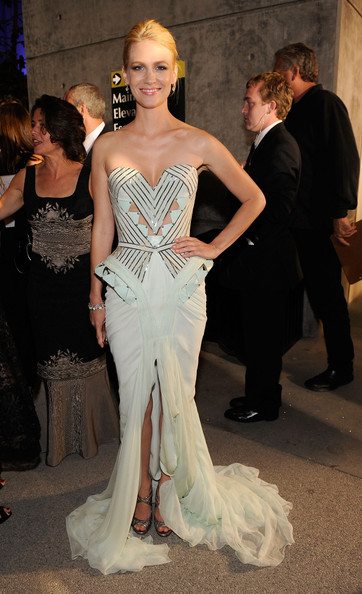 January Jones in Versace, 2009