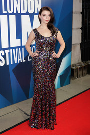 Anya Taylor-Joy brought plenty of sparkle to the BFI London Film Festival Awards with this Dolce & Gabbana mermaid gown rendered in multicolored sequins.