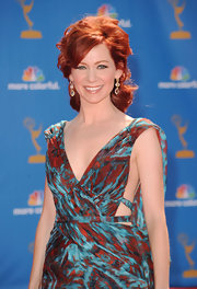 Carrie Preston showed off her fiery red locks in a perfectly pinned updo.