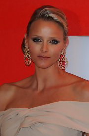 Charlene Wittstock played up her eyes with smoky shades of shadow for the 62nd Red Cross Ball in Monte Carlo.