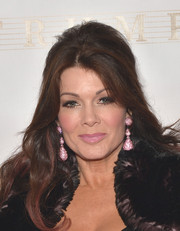Lisa Vanderpump styled her hair into a retro-glam half-up 'do for the Miss Universe Pageant.