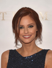 Alyssa Campanella fixed her locks into a loose updo for the Miss Universe Pageant.